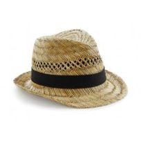 Beechfield - Chapeau Paille naturelle - beige - B730 - mixte homme femme