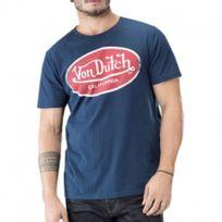 Vondutch - Tee shirt Aaron bleu Homme Von Dutch