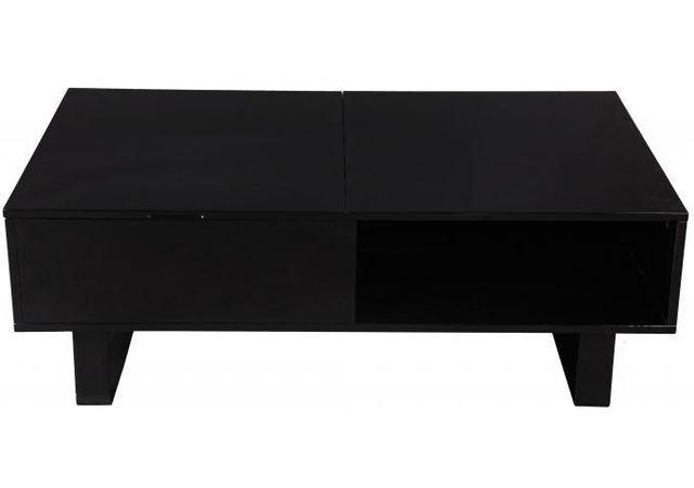 Declikdeco Offrez une déco pleine de charme à votre intérieur tout en y installant cette Table basse noire avec plateau relevable M