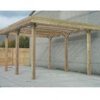 Solid - Carport Base 5x5 hauteur 4m, Ancrage Aucun, Panneaux de toit Pvc