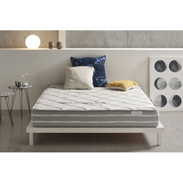 COSMOS Matelas SYSTEM 140x200 cm mousse HR ACTIVE LATEX® - VISCO V90® haute densité - mousse adaptative AeraPur® - LITERIE CONF