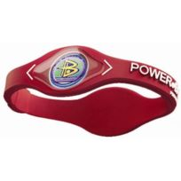Power Balance - Gk1 Bracelet Force Et ÉQUILIBRE Multicolore Red White Grand