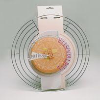 Patisse - Volette à pâtisserie en aluminium chromé diamètre 32 cm