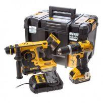 Dewalt - Pack Dck206M2T 18V 2x 4,0Ah Perforateur Sds-plus Dch253 + Perceuse/Visseuse Dcd785, avec Coffret Tstak