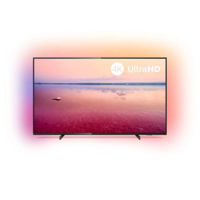 """PHILIPS TV LED 70"""" 178 cm - 70PUS6704 Ecran 70"""" ( 178 cm ) - 3840 x 2160 - Smart TV - HDR 10+ - Tuner DVB-T/T2/T2-HD/C/S/S2 - Connectivité : 3 x HDMI, 2 x USB, Wifi, CI+, sortie audio numérique ( optique ), Ethernet-LAN RJ-45, Sortie casque, Ent"""