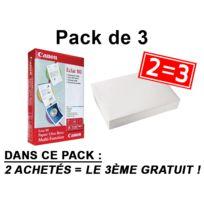 CANON - Pack de 3 Papier blanc normal compatible toute imprimante A4, 80g, pack de 500 feuilles x3