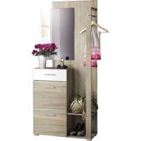 meuble entree vestiaire achat meuble entree vestiaire pas cher rue du commerce. Black Bedroom Furniture Sets. Home Design Ideas