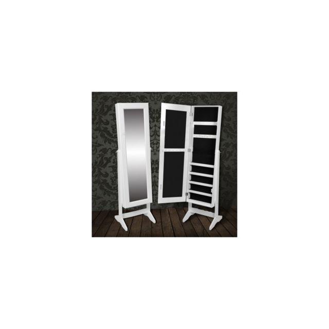 Top prix - Superbe Armoire à Bijoux rangement miroir meuble chambre ...