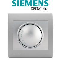Siemens - Va et Vient Variateur 500W Silver Delta Iris + Plaque basic Silver