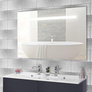 creazur miroir r tro clair mirlux 140x80 cm avec interrupteur sensitif pas cher achat. Black Bedroom Furniture Sets. Home Design Ideas