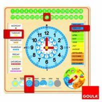 Jumbo - Goula - 51307 - Jeu Educatif - Horloge Calendrier - Anglais