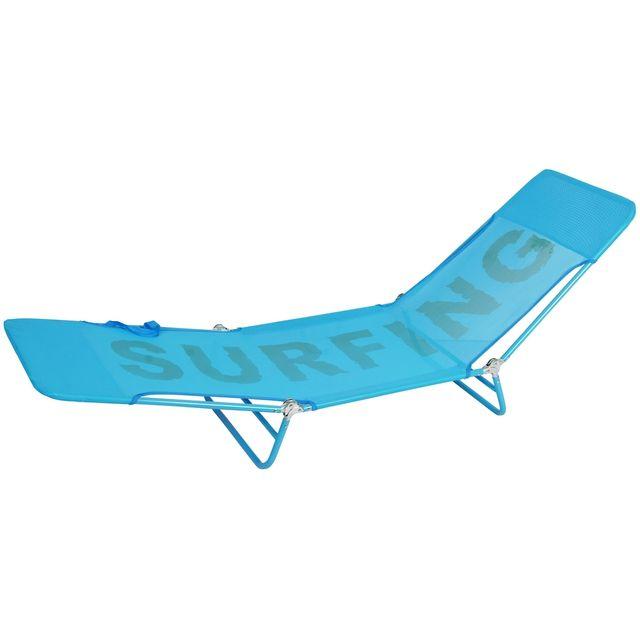 promobo bain de soleil surfing pliable poigne chaise longue transat terrasse jardin sieste bleu hauteur - Chaise Longue Transat