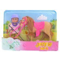 Jenny - Laura et son poney marron clair
