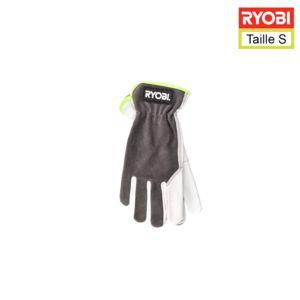 Ryobi - Gants de jardinage en cuir S RAC810S