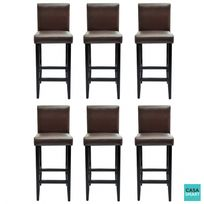 Lot Tabouret De Bar.Lot De 6 Tabourets De Bar Liberty Marron