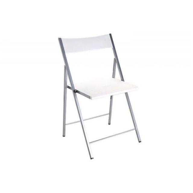 declikdeco chaise pliante blanche bilbao pas cher achat vente chaises rueducommerce. Black Bedroom Furniture Sets. Home Design Ideas