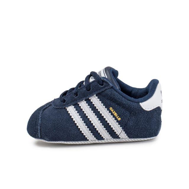 Adidas originals - Gazelle Crib Bébé Bleu Marine 16 - pas cher Achat / Vente Baskets enfant - RueDuCommerce