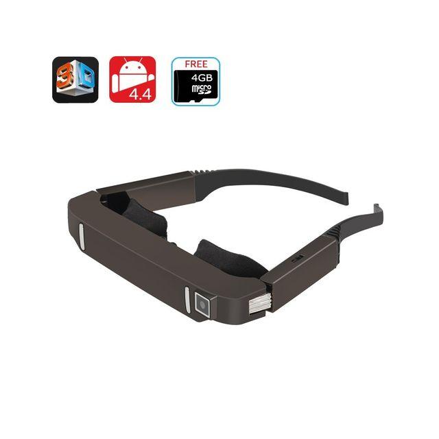 Auto-hightech - Lunettes 3D Vidéo Android 4.4 appareil photo 5MP Bluetooth, Wi-Fi
