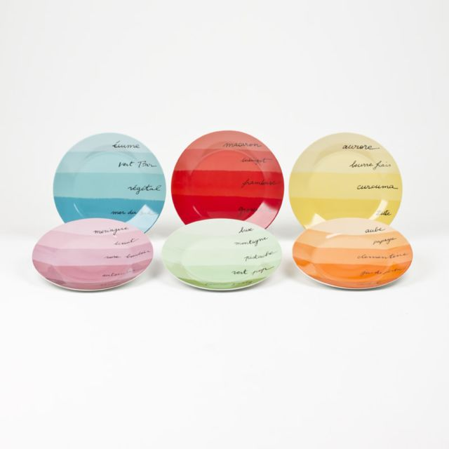 TABLE PASSION COFFRET 6 ASSIETTES DESSERT RAINBOW