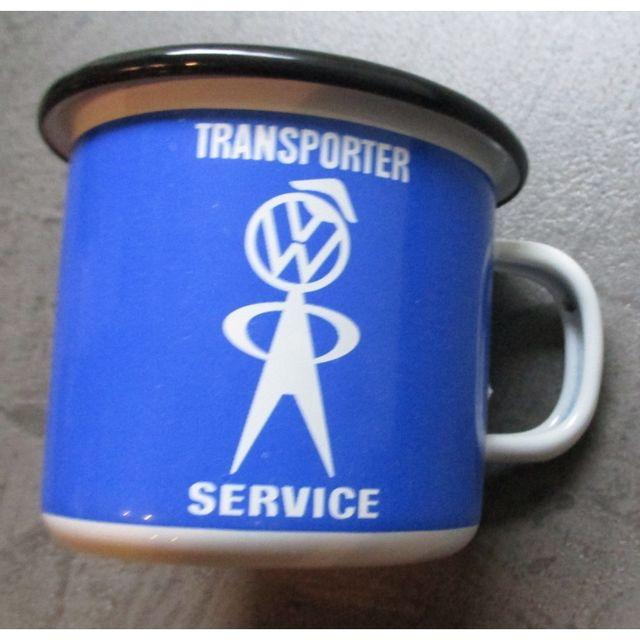 Universel Mug Vw transporter servicebleu en email tasse à café emaillée volkswagen