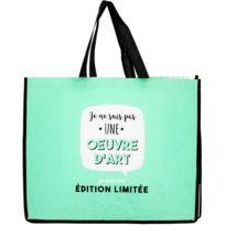 4ebfaf528d Promobo - Sac Pour Course Shopping Cabas Collection Je Suis Une Oeuvre  D'Art Bleu