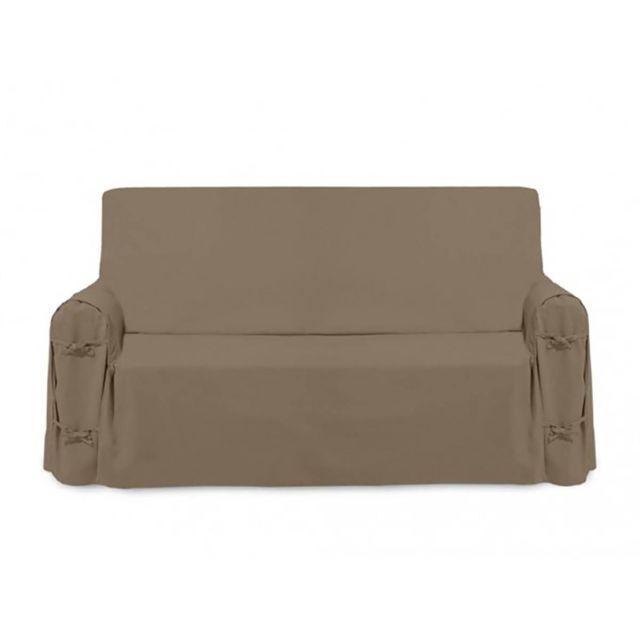 soleil d 39 ocre housse de canap panama taupe pas cher achat vente housses canap s chaises. Black Bedroom Furniture Sets. Home Design Ideas