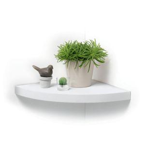 marque generique tag re flottante d 39 angle blanche pas cher achat vente etag res. Black Bedroom Furniture Sets. Home Design Ideas