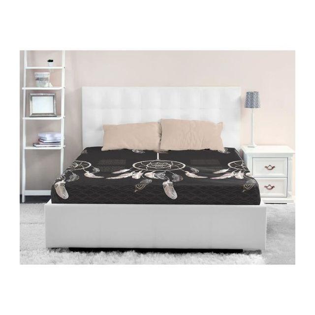 lovely home drap housse 100 coton attrape reves 140x190 cm rose 40cm x 190cm pas cher achat. Black Bedroom Furniture Sets. Home Design Ideas