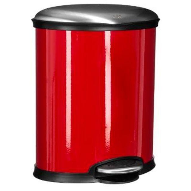 paris prix poubelle de cuisine ovale 20l rouge pas cher achat vente poubelle de cuisine. Black Bedroom Furniture Sets. Home Design Ideas