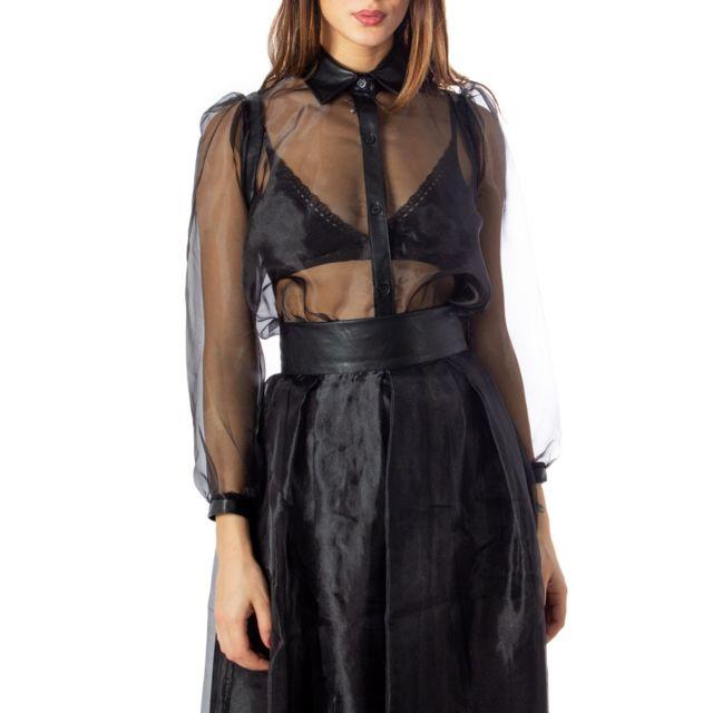 Rinascimento Femme Cfc0095405003BLACK Noir Viscose Chemise