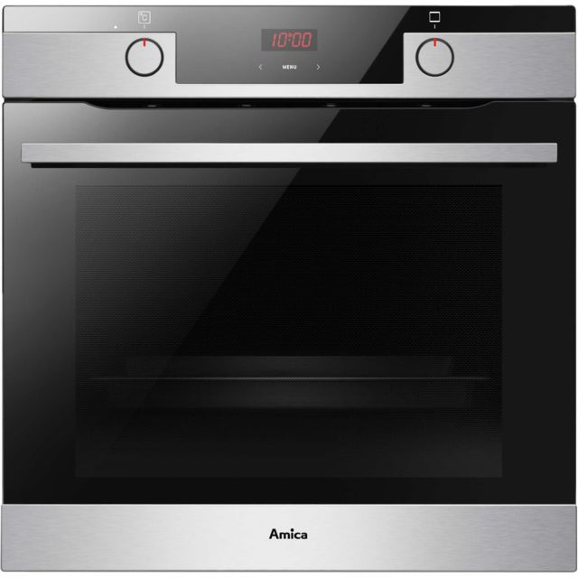 AMICA four intégrable multifonction 77l 60cm a pyrolyse inox - ed36541x