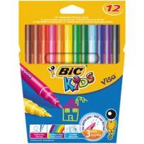 Bic Kids - feutre coloriage pointe fine visa assorti - pochette de 12