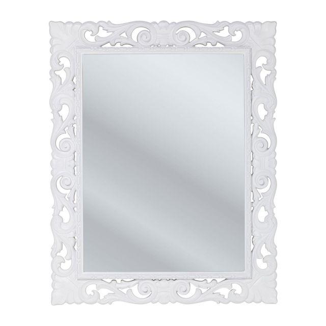 Karedesign Miroir Secolo blanc 82x102cm Kare Design