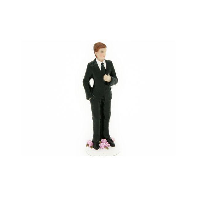 Figurine marié blanc seul 11 cm