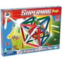 Mgm - Jeu de construction magnétique : Supermag 92 pièces