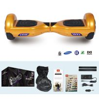 COOL AND FUN - COOL&FUN Hoverboard Batterie Samsung, gyropode 6,5 pouces Doré