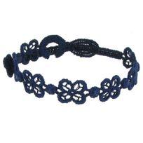 Les Poulettes Bijoux - Cruciani Bracelet Dentelle Happy Bleu Navy
