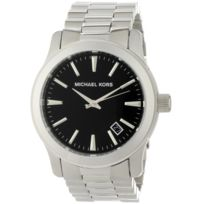 Michael Kors - Montre homme Micheal Kors Silver And Black Mk7052
