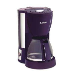 seb cafeti re filtre 10 15 tasses 1000 watts cm330600 violet et inox classic violine achat. Black Bedroom Furniture Sets. Home Design Ideas