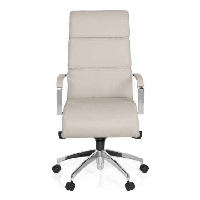 Hjh Office Chaise de bureau / Fauteuil de direction Galesa cuir gris