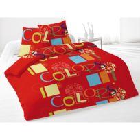 Intemporel - Housse de couette 220x240cm Colors Rouge