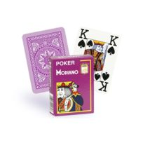 Modiano - Cartes 100% plastique 4 index mauve