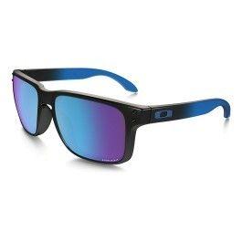 efe2bf45a935a2 Oakley - Lunettes Oakley Holbrook noir bleu avec verres Prizm Sapphire