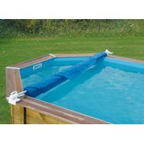 ubbink enrouleur de bche amovible pour piscine hors sol bois