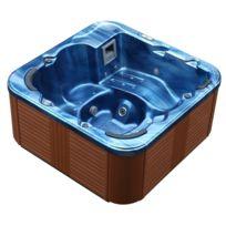 BELIANI - Whirlpool - spa 6 places - acrylique haute qualité argent ... a1441ae5cd5a