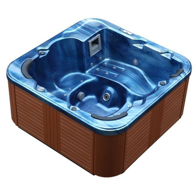 BELIANI - Whirlpool - spa 6 places - acrylique haute qualité bleu ... bd375c82944a