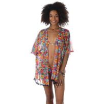 Banana Moon - Tunique de plage fleurie multicolore Tulmooney