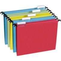 L'OBLIQUE - dossiers suspendus en kraft couleurs assorties - lot de 5
