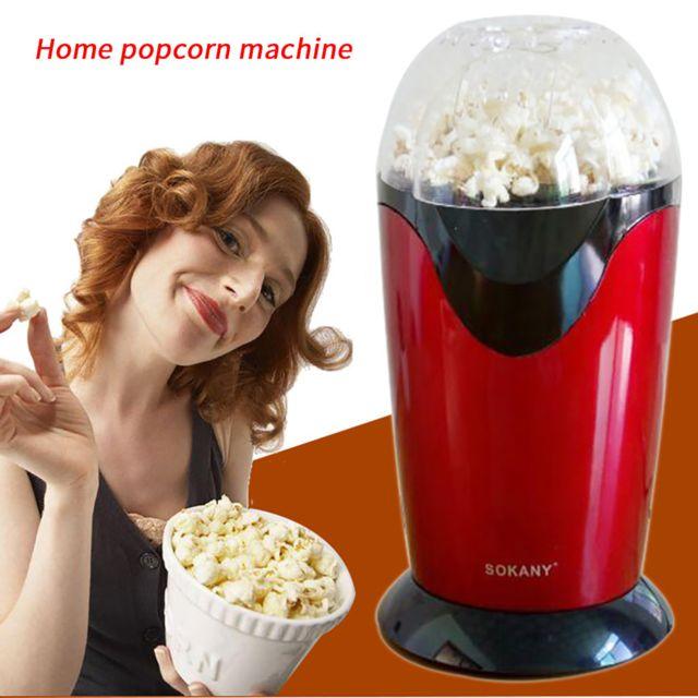 Generic Machine à pop-corn mini loisirs automatiques de fête de ménage à usage personnel de loisirs - rouge