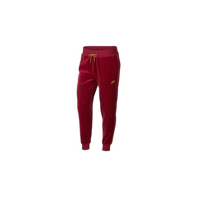 Nike - Pantalon de survêtement Velour - 939502-618 - pas cher Achat   Vente  Survêtement femme - RueDuCommerce 727b03ecf00
